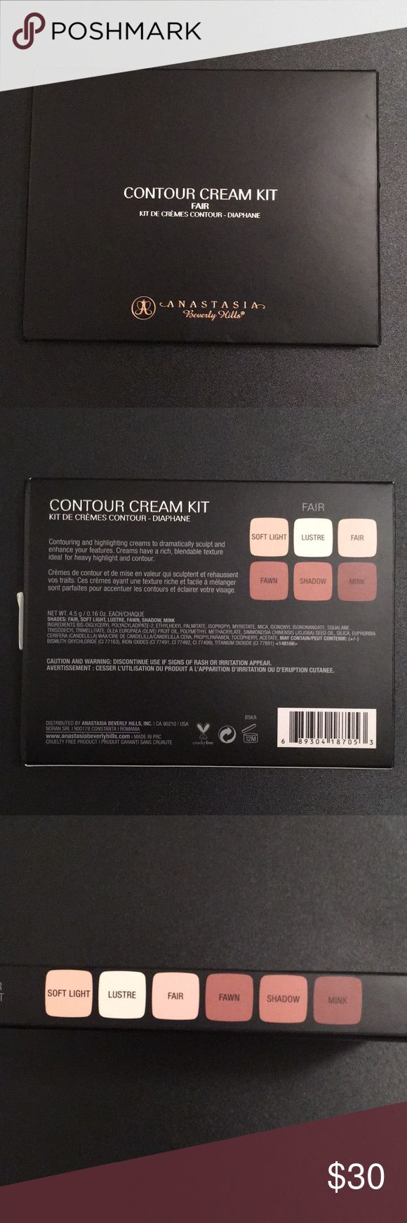 BRAND NEW ABH CONTOUR KIT Never used cream contour kit. Honestly I'm not sure how to use it so it would be better used by someone who does. Shade is in FAIR Anastasia Beverly Hills Makeup Bronzer