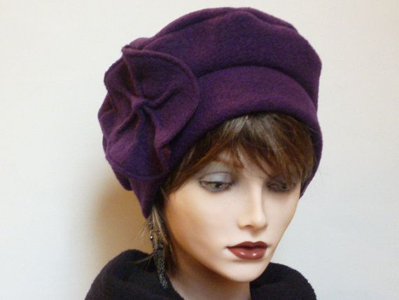 Ladies Purple Wool Cloche by SatzDesigns on Etsy, $55.00