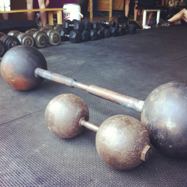 Old school weights.