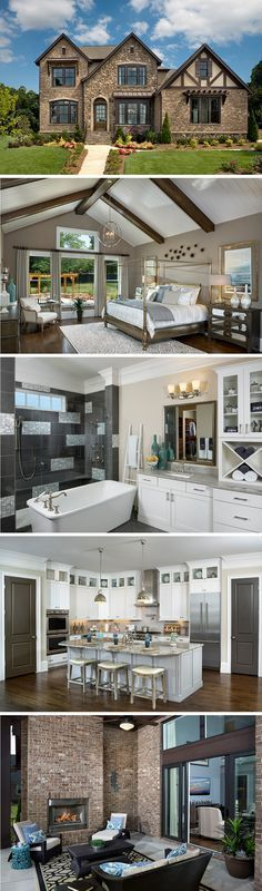 The Richwood by David Weekley Homes in Rosecliff features warm hardwood floors, an open kitchen layout and a large owners retreat. This home has custom home options like tray ceilings, a super shower in the owners bathroom and a stylish cooktop on the kitchen island.