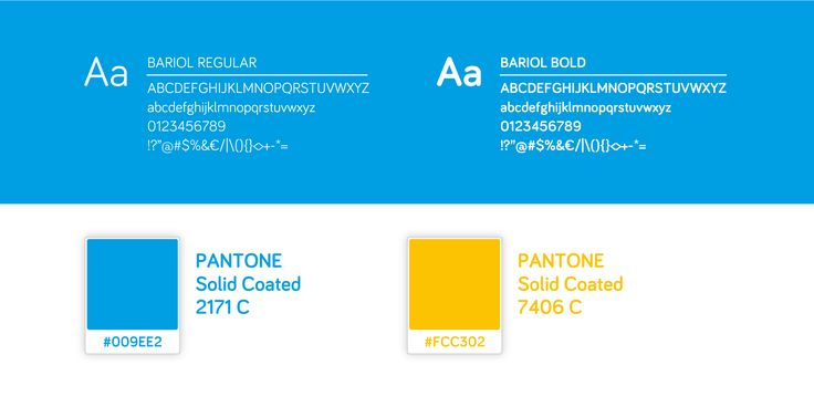 Main colors and typography for Planoh identity.