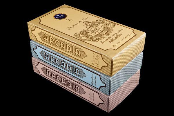 """Arcádia, """"Retro"""". Chocolat Packaging. by António Queirós Design , via Behance"""