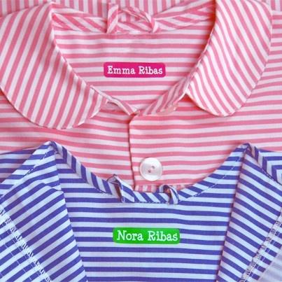 Etiquetas personalizadas para marcar la ropa del colegio: http://www.stikets.com/etiquetas/etiquetas-ropa.html