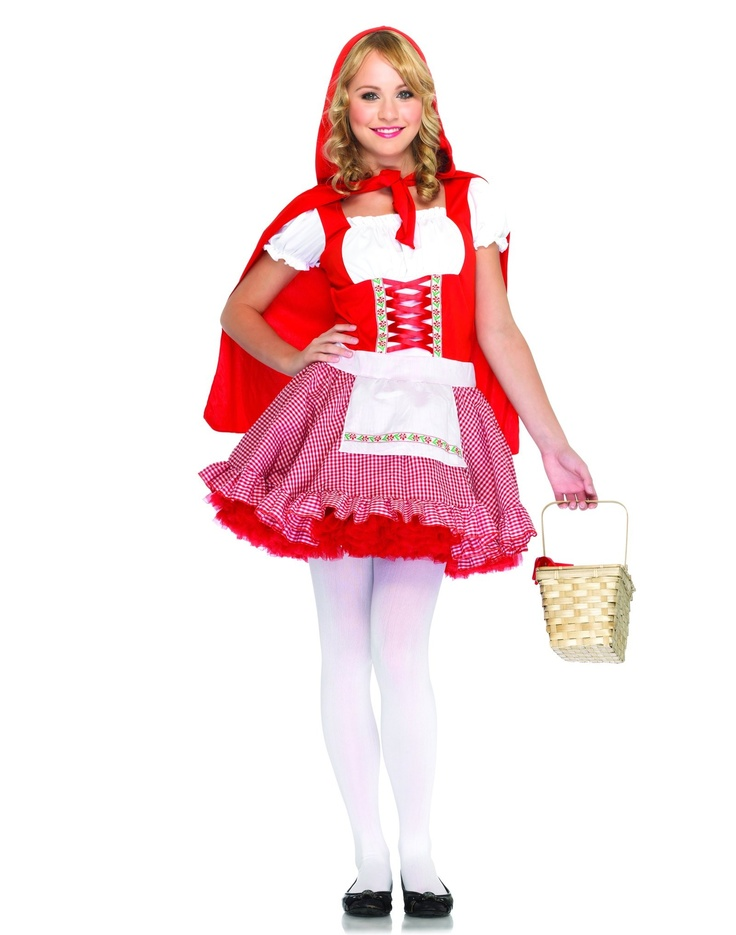 You will be too sweet for the Big Bad Wolf in this Little Red Riding Hood  Costume! Teen Girls Little Red Riding Hood Costume features a black and red  dress.