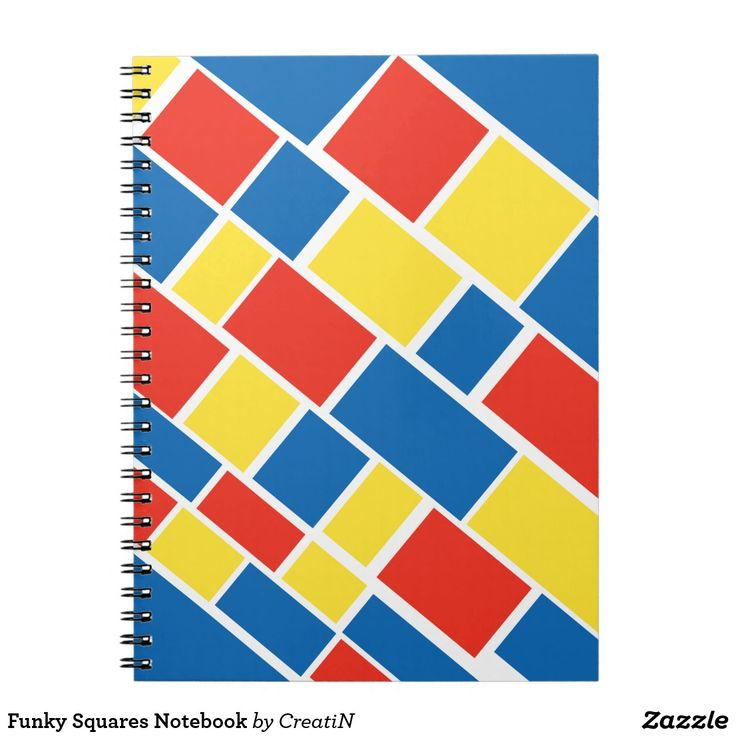 Funky Squares Notebook