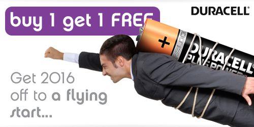 buy 1 get 1 free on Duracell Plus Power Duralock Batteries