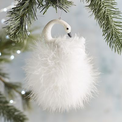 Feather Swan Ornament | Pier 1 Imports | Swans, Birds & Flights of Dining  Fancy | Ornaments, Christmas Ornaments, Christmas - Feather Swan Ornament Pier 1 Imports Swans, Birds & Flights Of