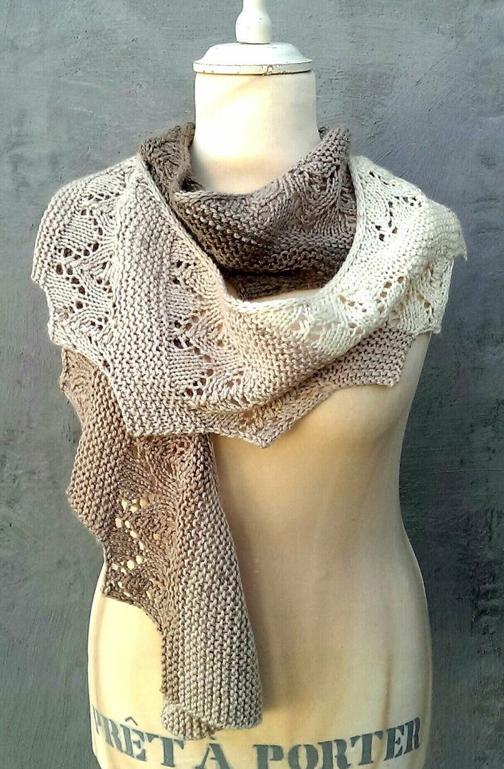 Scarf in lace & garter stitch | Crazy Cakes | Europris | Norway