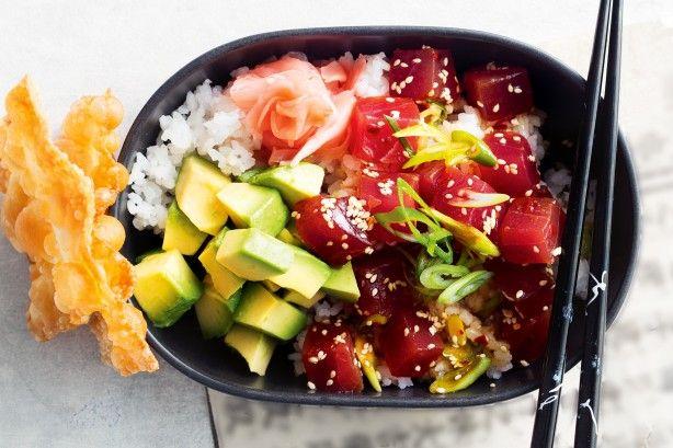 Tuna poke bowl
