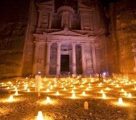 Petra, Jordan by night