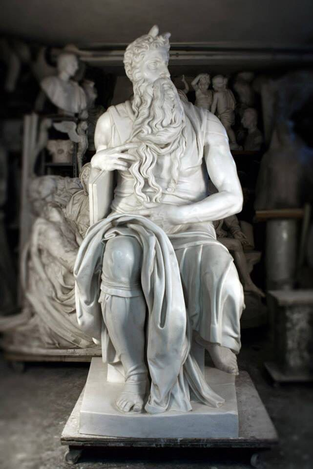 Michelangelo's Moses Cast by FeliceCalchi