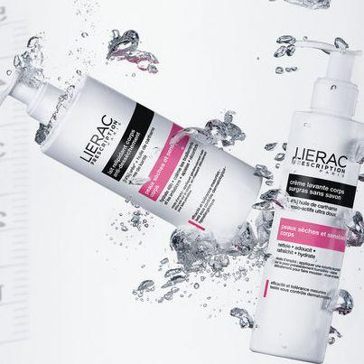 Lierac Prescription για το Σώμα σου Κρέμα καθαρισμού που αναπληρώνει τα λιπίδια, χωρίς σαπούνι, καθαρίζει απαλά και ενυδατώνει προστατεύοντας μοναδικά την επιδερμίδα από την ξηρότητα. Και Lait Relipidant Corps απόλυτο γαλάκτωμα σώματος κατά της ξηρότητας που αναπληρώνει τα λιπίδια με ουρία, καρθαμέλαιο και βούτυρο καριτέ: ηρεμεί, επανορθώνει, προσφέρει άνεση στην επιδερμίδα, ενυδατώνει επί 48 ώρες και κατευνάζει τραβήγματα και ερεθισμούς