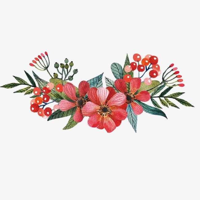 Vector Painted Red Flowers Red Flowers Hand Painted Png Transparent Clipart Image And Psd File For Free Download Red Flowers Vector Flowers Flower Painting