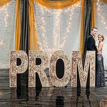 Sequins and Bow Ties Prom Letter Set