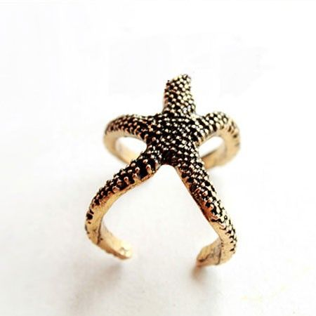 Vintage Cute Starfish Ope Ring  Womens Accessories - ByGoods.com