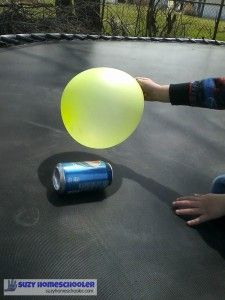 Exploring static electricity with a balloon and an empty can   Suzy Homeschooler