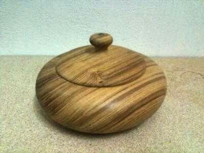 teak wood bowl.