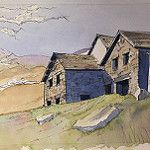 Copper mines Cottages in the Lake District: a recent demo piece por John Harrison, artist