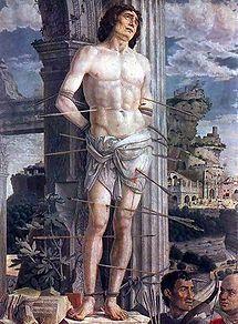 saint sebastian by mantegna