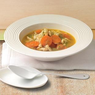 minestra di carote con spaetzle