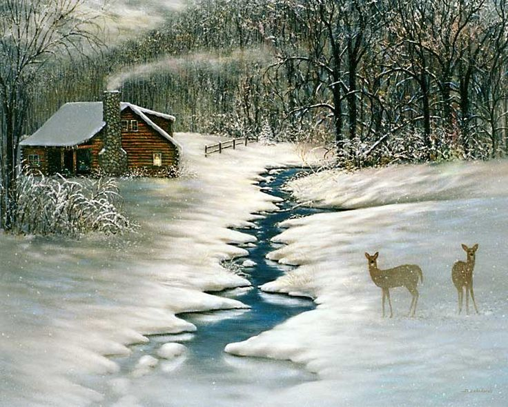 to spend a quiet lovely winter tucked away somewhere like