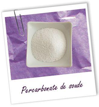 Percarbonate de soude  Nombreux usages dont désinfection plus écologique que l'eau de javel
