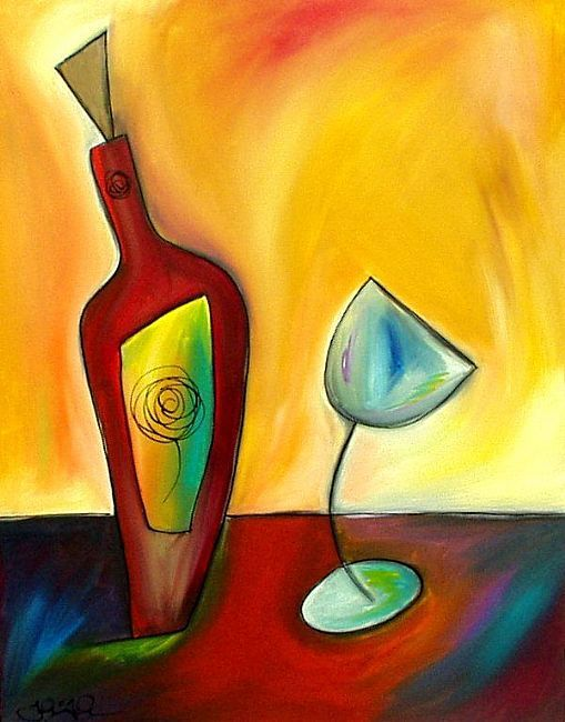 abstract art wine - Google Search