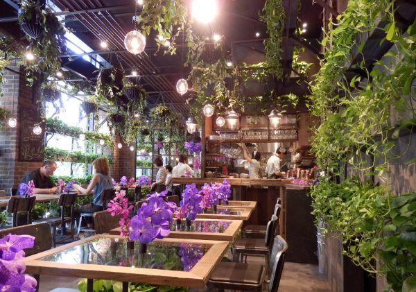 フラワーショップ「Aoyama Flower Market」がプロデュースするカフェ「Aoyama Flower Market TEA HOUSE」の3号店が東京・赤坂にオープン。たくさんの花と緑に囲まれてランチやディナーが楽しめる、花屋さんならではのカフェ。