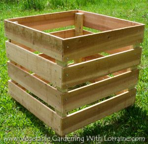 The Best Homemade Compost Bin - needs a lid