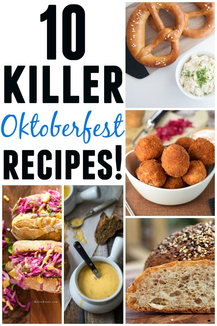 10 Killer Oktoberfest recipes! 10 of the best Oktoberfest recipes around the web. AWESOME!