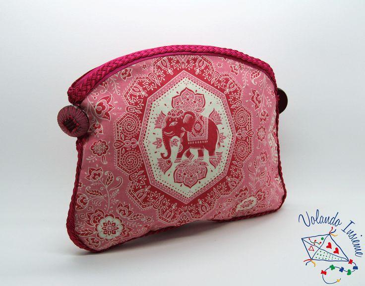 Pochette rosa etnica