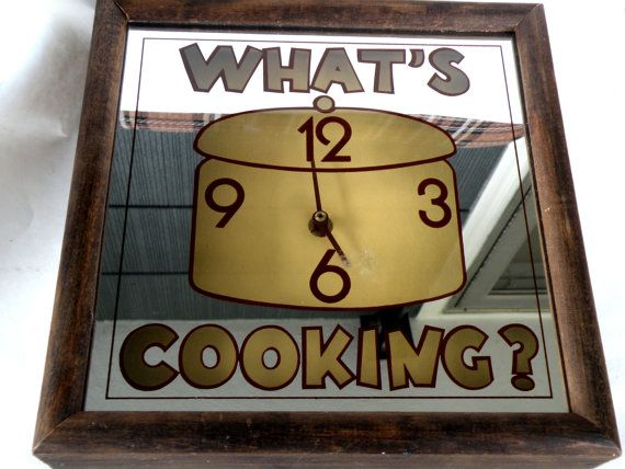 Whats Cooking Clock Numbers Time Bakeware by UncommonRecycables