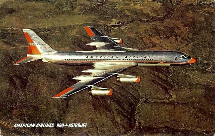 The American Airlines Convair 990. The Convair 990 was a stretched and faster variant of the #Convair880 . First flight: January 1961.