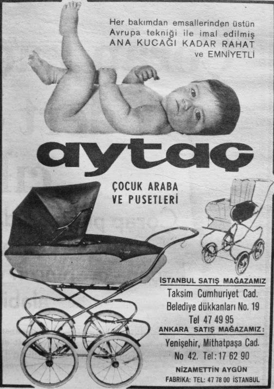 OĞUZ TOPOĞLU : aytaç çocuk arabası ve pusetleri 1967 nostaljik es...