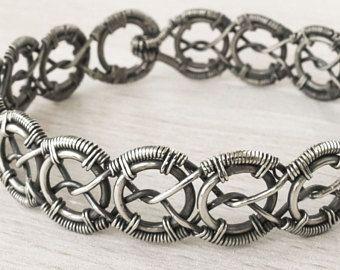 Celtic Bracelet Celtic Jewelry Wire Wrapped Bracelet Wire