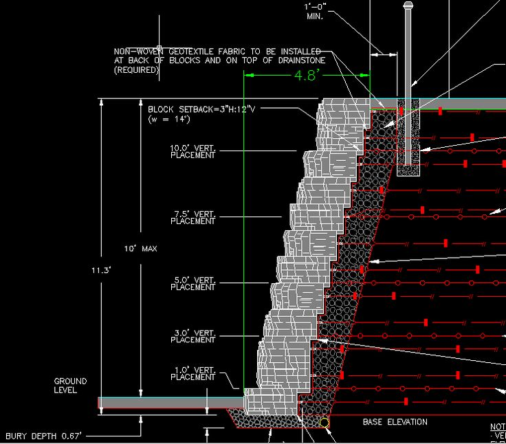 Image result for stacked stone wall detail CAD ...