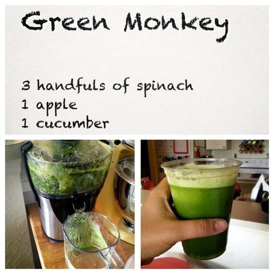 """green monkey"" Vitamix recipe"