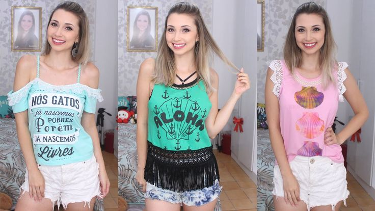 DIY - Customizando 3 camisetas antigas - Jana Taffarel