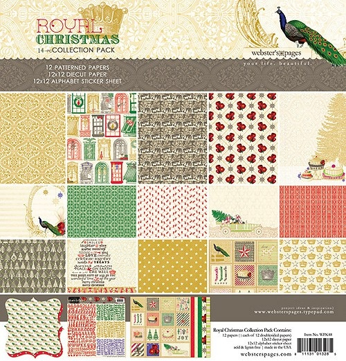"""Craftie-Charlie: Webster's Pages Royal Christmas 12""""x12"""" Collection Pack"""