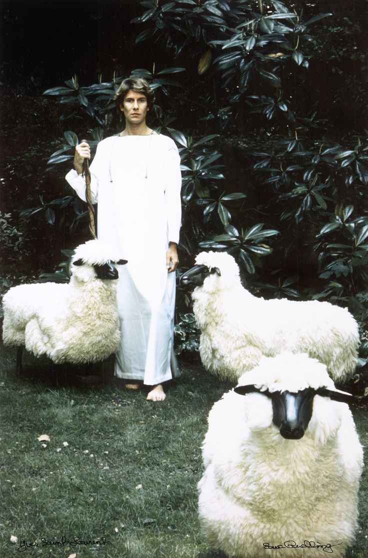 Ewa Rudling porträtt Yves Saint Laurent | Stockholms Auktionsverk Online