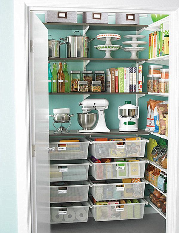 Lots of pantry ideas.  I love the drawers!  They would also be awesome for produce, which I never have a place for!
