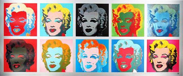 Bild: Andy Warhol - Marilyn Monroe Tableau POP ART