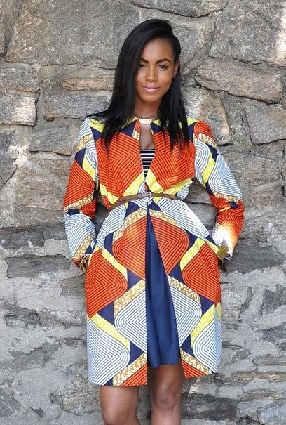 African inspired fashion outfit and accessories
