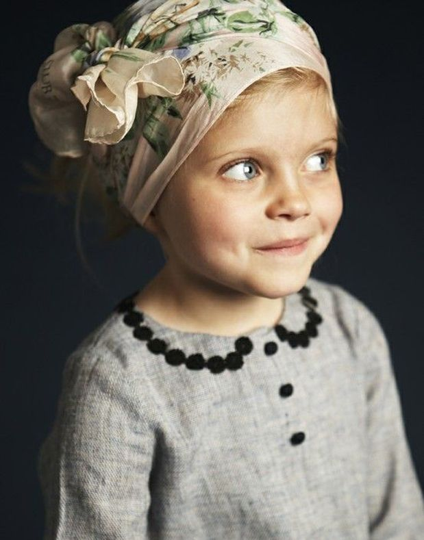 head scarf!Little Girls, Head Wraps, Headscarf, Kids Fashion, Peter Pan Collars, Children, Baby, Kids Clothing, Head Scarf