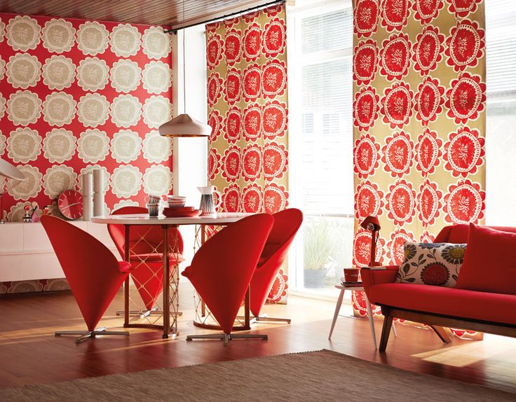 Use Our Matching Lotta Fabric And Wallpaper For A Real Statement Floral  Interior! Nice Look