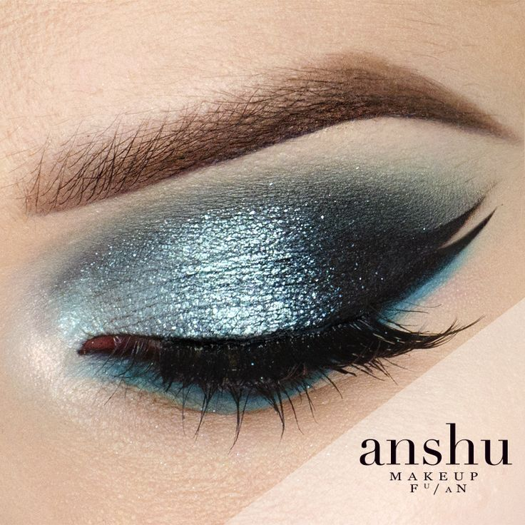 Water shine- the colors used are corrupt & shark bait from Makeup Geek.  That teal shimmery color is gorgeous. It looks like the sun shining on the water.