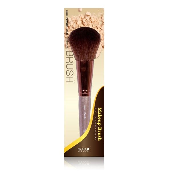 POWDER BRUSH - Evenly distribute powders with maximum application control using our Nicka K Professional powder brushes. The densely packed soft bristles buff all types of powders—loose, compact, blushes and bronzers, then gently glide across the crevices and contours of the face for a smooth finish.