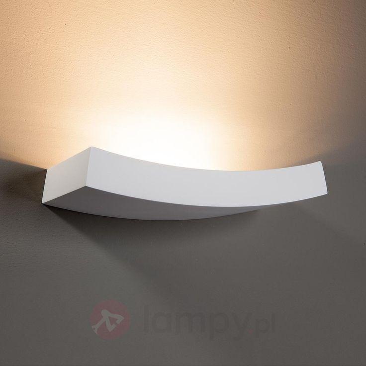Wygięta lampa ścienna Leander do pomalowania 9613004