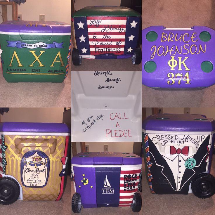Lambda Chi Alpha Fraternity Cooler. #paintedcoolers