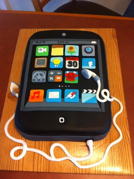 Ipod touch cake....would love this for my daughter's 13th :)